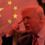 Donald Trump y la bandera china